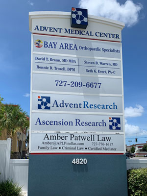 Amber Patwell Law outside sign